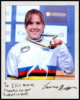 Ellis sponsored Squamish athlete Lauren Rosser in the international mountain bike circuit